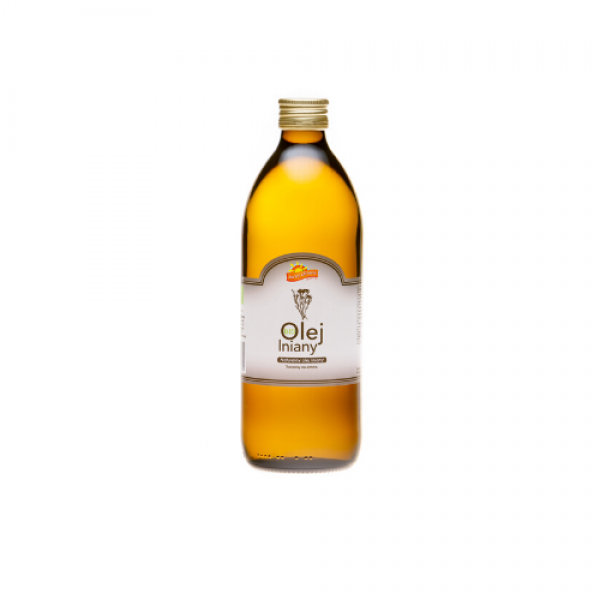 Ekologiczny olej lniany 500 ml Barwy Zdrowia
