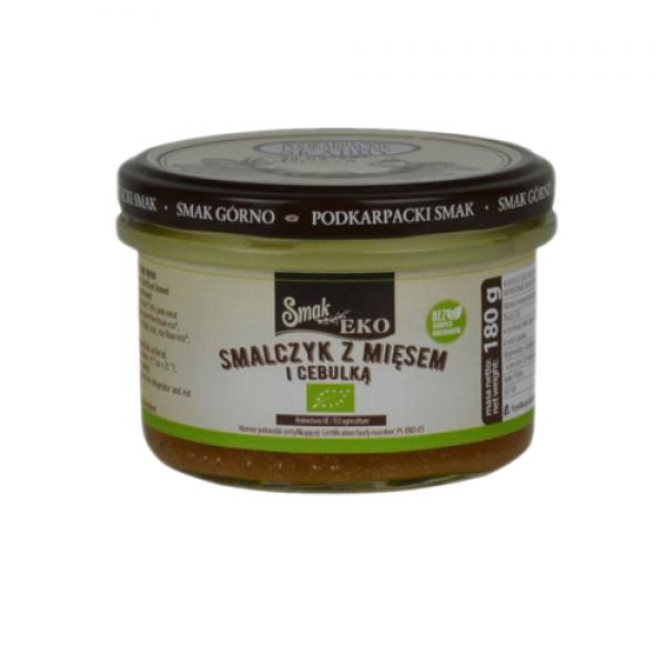 Ekologiczny smalczyk z mięsem i cebulką 180 g Smak Górno
