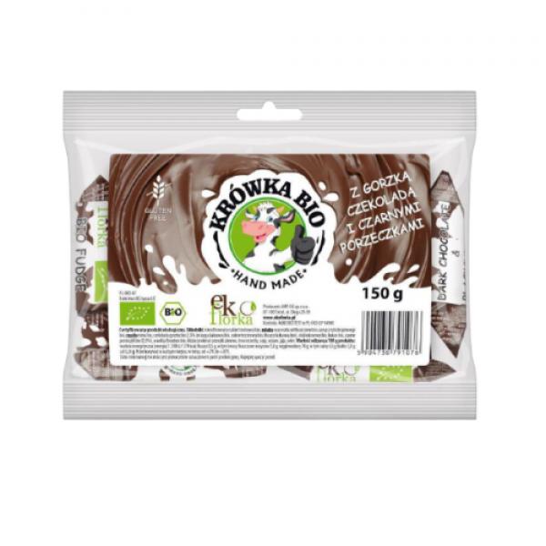 Ekologiczna krówka bio z gorzką czekoladą i czarnymi porzeczkami 150 g Ekoflorka