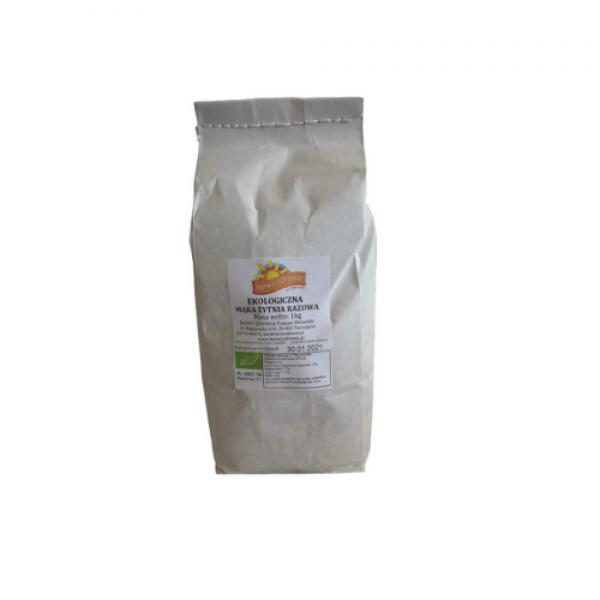 Ekologiczna mąka żytnia razowa 1 kg Barwy Zdrowia