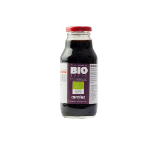Ekologiczny syrop niskosłodzony z owoców czarnego bzu 330 ml Kamionna