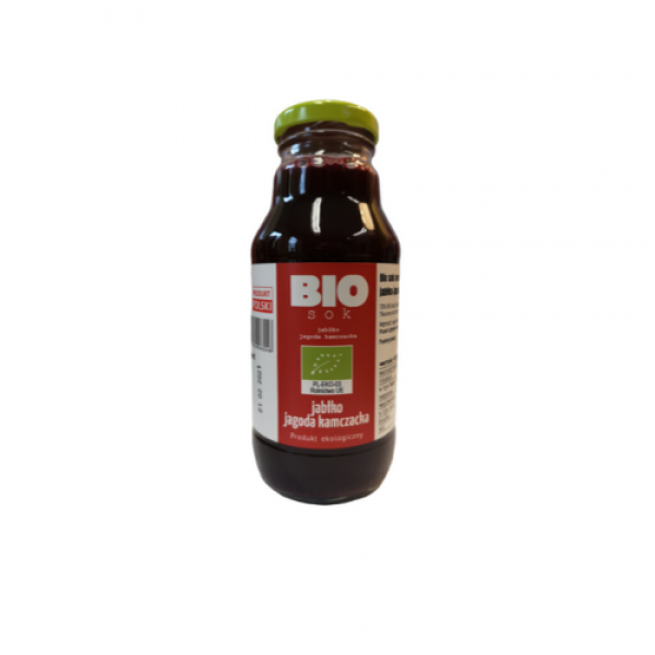 Ekologiczny sok jabłkowy z jagodą kamczacką 330 ml Kamionna