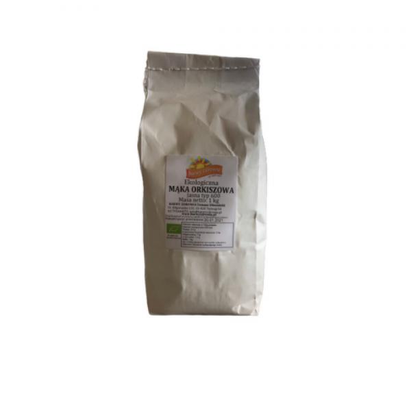Mąka orkiszowa jasna  Typ 600 ekologiczna 1 kg Barwy Zdrowia