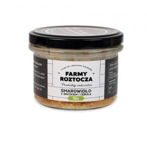 Ekologiczne smarowidło z boczkiem i cebulą w słoiku 180 g Farmy Roztocza