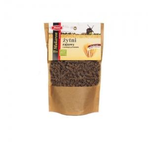 Makaron żytni razowy z pełnego przemiału świderek ekologiczny 250 g Malwa