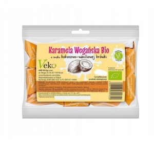 Ekologiczna karmela o smaku kokosowo-waniliowym 120 g Ekoflorka