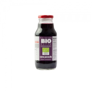 Ekologiczny syrop niskosłodzony z czarnej porzeczki 330 ml Kamionna